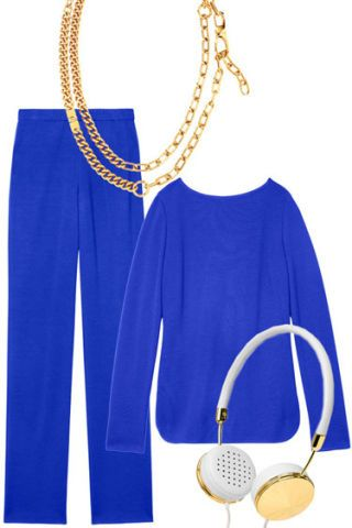 Blue, Product, Yellow, Style, Collar, Electric blue, Amber, Cobalt blue, Fashion, Neck,