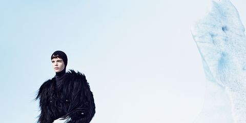 Human, Winter, Street fashion, Overcoat, Black hair, Fur, Ice cap, Snow, Fur clothing, Animal product,