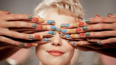 Finger, Skin, Nail, Style, Eyelash, Organ, Beauty, Nail care, Manicure, Nail polish,