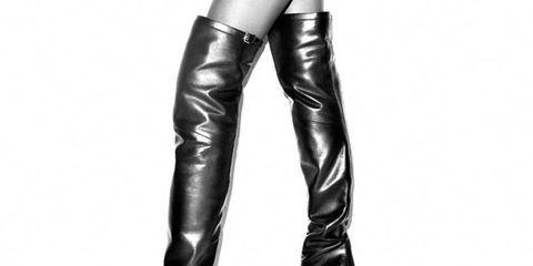 Human leg, Joint, Boot, Latex, Knee, Thigh, Fashion, Leather, Black, High heels,