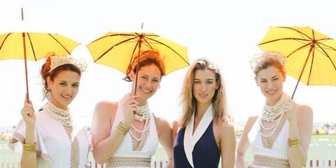 Clothing, Yellow, Trousers, Umbrella, Photograph, Outerwear, Dress, Formal wear, Waist, Style,