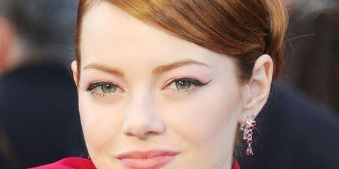 Ear, Lip, Hairstyle, Forehead, Earrings, Eyebrow, Eyelash, Style, Beauty, Magenta,
