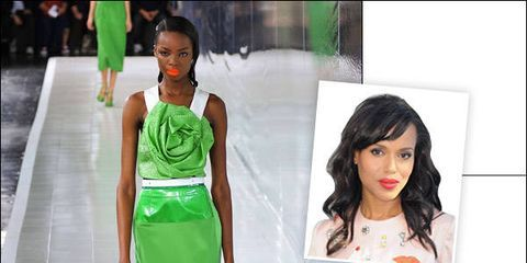 Green, Shoulder, Joint, Style, Waist, Black hair, Fashion, Neck, Beauty, Youth,