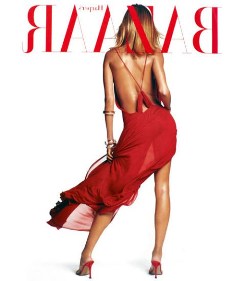 gisele bundchen on bazaar cover