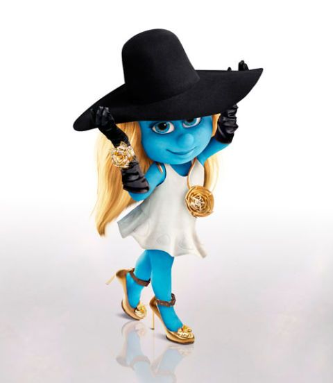 smurfette fall fashion harpers bazaar 2011