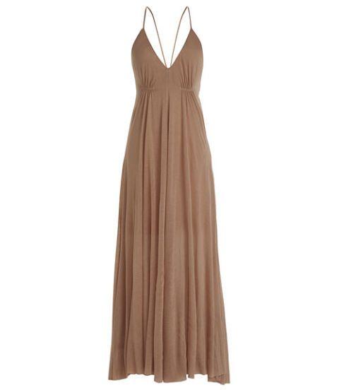 Clothing, Brown, Dress, Textile, One-piece garment, Formal wear, Pattern, Fashion, Day dress, Neck,