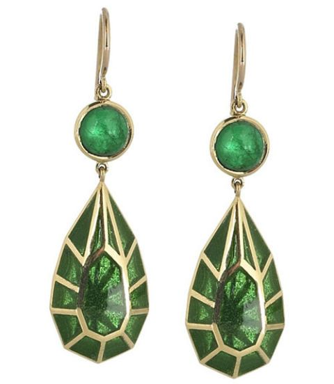 Green, Earrings, Fashion accessory, Natural material, Metal, Jewellery, Teal, Body jewelry, Craft, Christmas decoration,