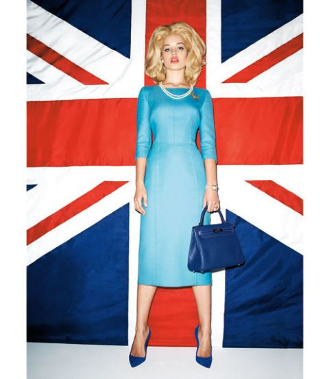 georgia may jagger as margaret thatcher harpers bazaar september 2011