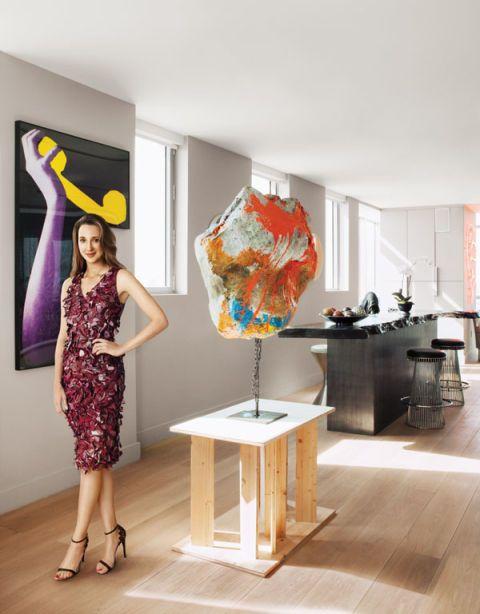 Interior design, Shoulder, Dress, Room, Table, Floor, One-piece garment, Interior design, Fashion, Day dress,
