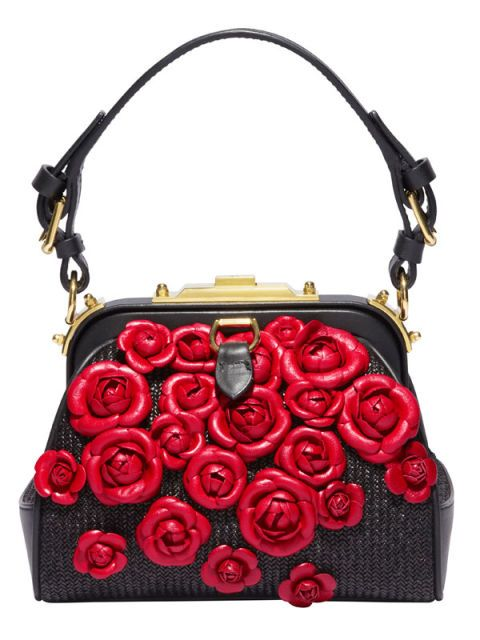 black red and floral