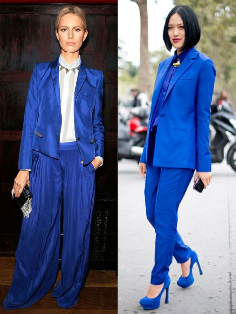 Clothing, Blue, Sleeve, Collar, Textile, Outerwear, Formal wear, Electric blue, Style, Street fashion,