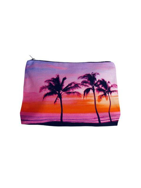 palms canvas clutch