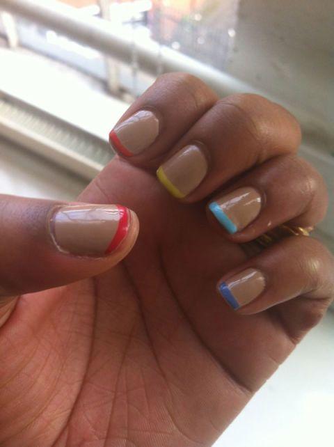 Finger, Skin, Nail, Nail polish, Nail care, Toe, Manicure, Foot, Close-up, Beige,