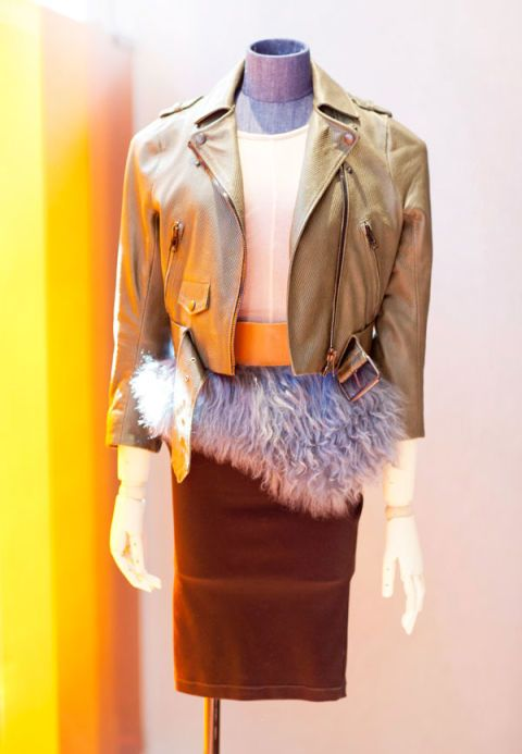 Product, Collar, Sleeve, Textile, Outerwear, Orange, Fashion, Pattern, Street fashion, Electric blue,