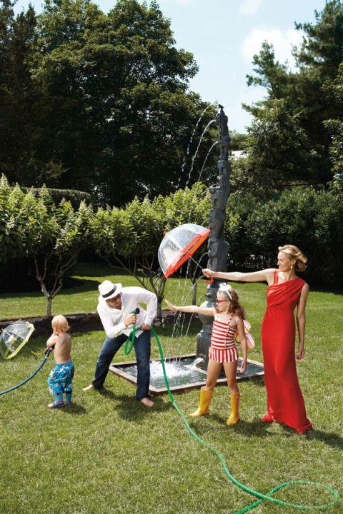 Garden, Child, Dress, Lawn, Toddler, One-piece garment, Park, Play, Yard, Backyard,