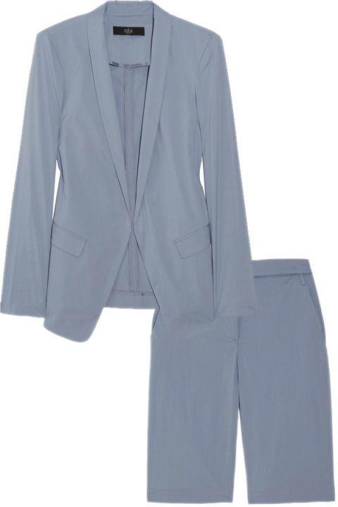 Clothing, Blue, Coat, Collar, Sleeve, Textile, Outerwear, Blazer, Fashion, Electric blue,