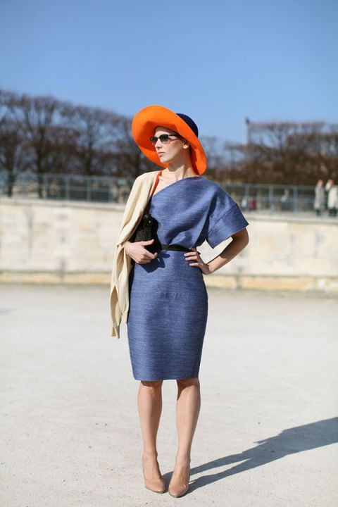 Sleeve, Dress, Shoulder, Joint, Standing, One-piece garment, Style, Street fashion, Electric blue, Waist,