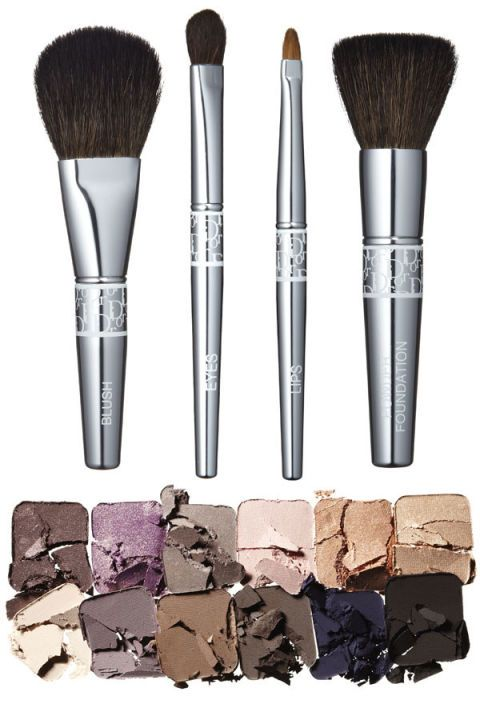 Brown, Brush, Beige, Khaki, Cosmetics, Makeup brushes, Personal care, Silver, Makeover, Paint brush,
