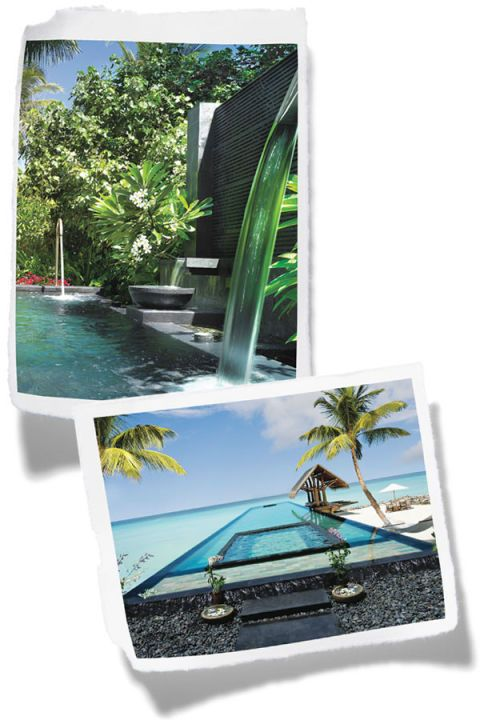 Technology, Aqua, Swimming pool, Water feature, Tropics, Resort, Palm tree, Portable communications device, Mobile device, Arecales,