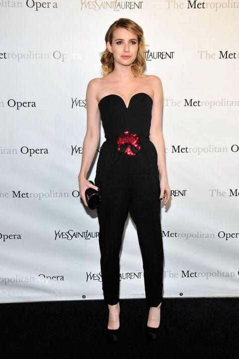 Emma Roberts in Yves Saint Laurent