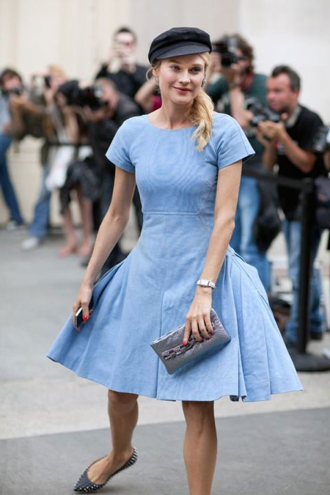 Clothing, Blue, Fashion accessory, Style, Street fashion, Electric blue, Dress, Bag, Fashion, Waist,
