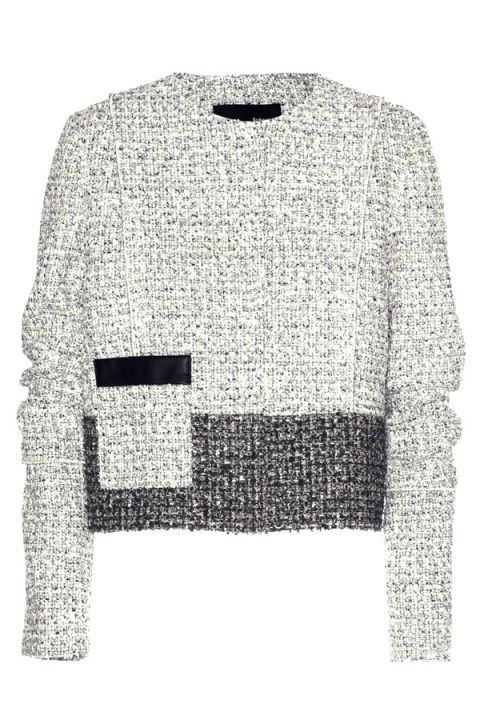 Product, Sleeve, Textile, White, Collar, Pattern, Sweater, Black, Grey, Woolen,
