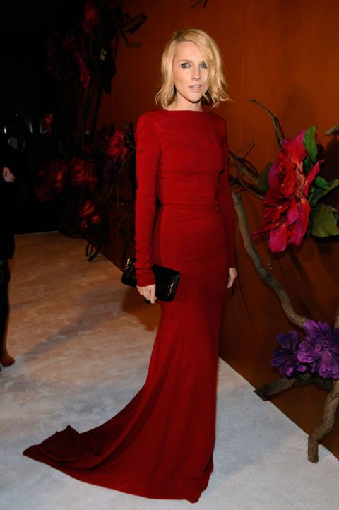 Shoulder, Red, Dress, Petal, Style, Formal wear, Fashion model, Gown, Fashion, One-piece garment,
