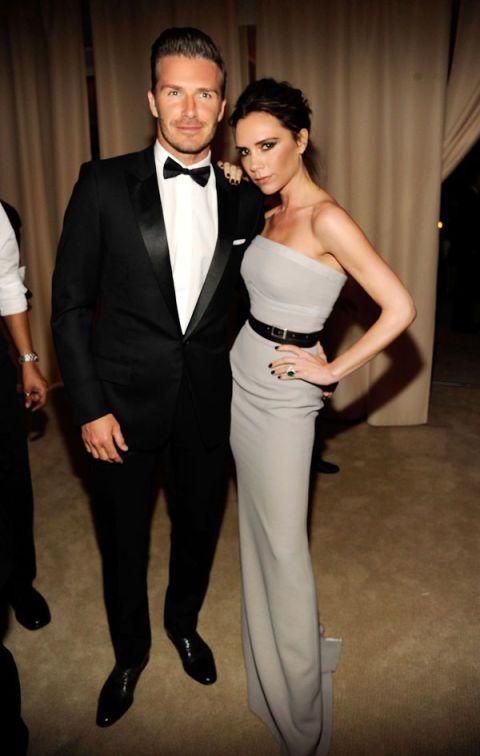 David Becham and Victoria Beckham in Victoria Beckham