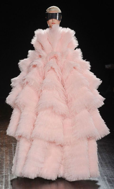 Textile, White, Pink, Costume accessory, Fashion, Peach, Fur, Natural material, Costume design, Animal product,