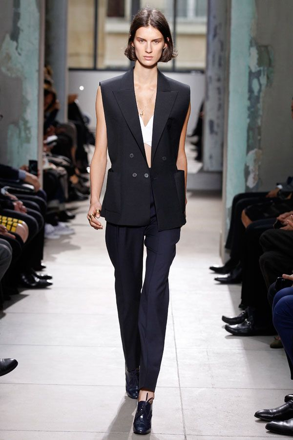 White Blouses, Tuxedos, and Black Pants for Women - How To Wear ...
