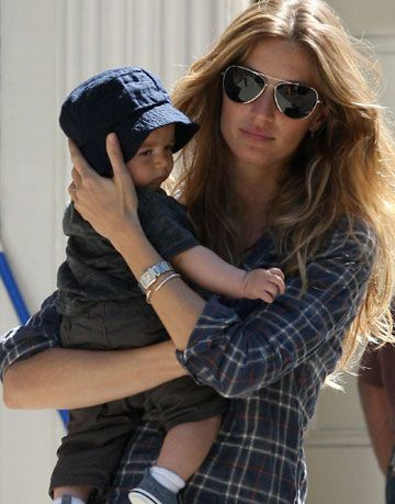 gisele bundchen and her baby son benjamin