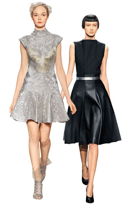 Clothing, Dress, Sleeve, Shoulder, Joint, Standing, Formal wear, One-piece garment, Style, Pattern,
