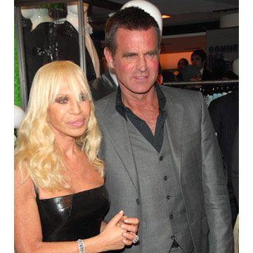 donatella versace and paul beck at versace menswear launch party at barneys