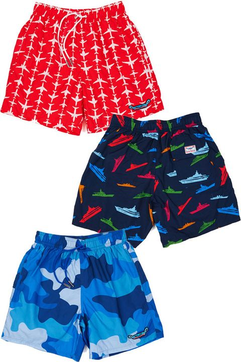 Clothing, Blue, Product, Pattern, Textile, Red, White, Style, Shorts, Electric blue,