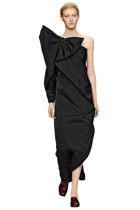 Clothing, Sleeve, Dress, Shoulder, Joint, Standing, Formal wear, One-piece garment, Style, Waist,