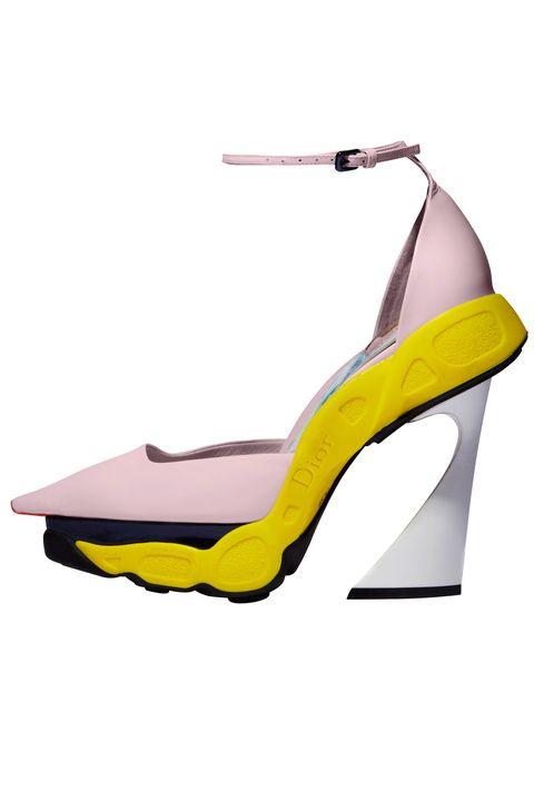 Product, Yellow, Basic pump, High heels, Sandal, Beige, Court shoe, Dancing shoe, Fashion design, Bridal shoe,
