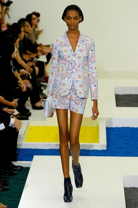 Clothing, Leg, Human body, Fashion show, Shoulder, Human leg, Joint, Runway, Outerwear, Style,