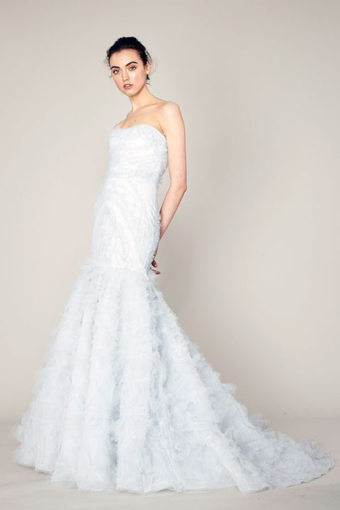Clothing, Dress, Sleeve, Bridal clothing, Shoulder, Textile, Gown, Photograph, Joint, Wedding dress,