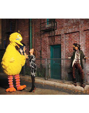 diane von furstenberg and big bird