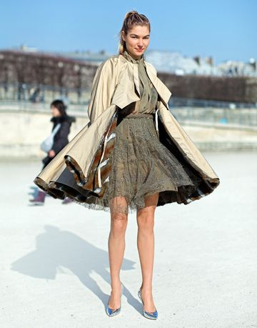 jessica hart valentino dress fendi coat paris