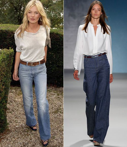 Wide Leg Jeans Trend - How to Wear Wide Leg Jeans