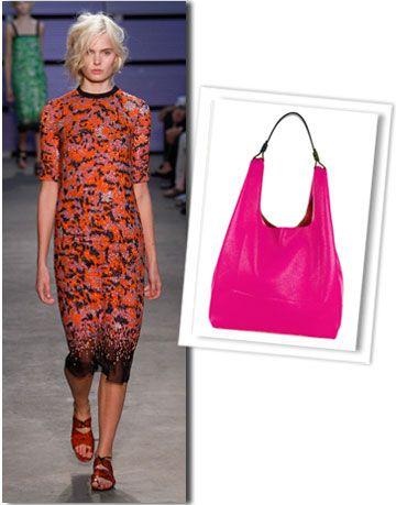 Shoulder, Red, Joint, Style, Bag, Dress, One-piece garment, Magenta, Shoulder bag, Pattern,