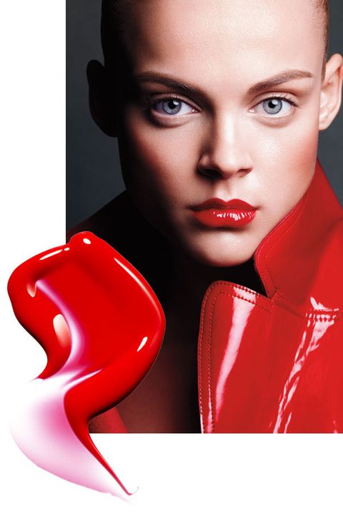 Face, Lip, Chin, Eyebrow, Red, Eyelash, Carmine, Model, Photo shoot, Portrait photography,