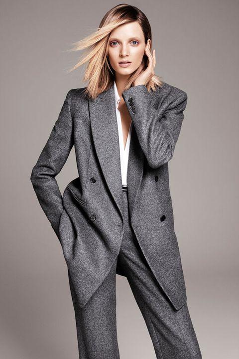 Clothing, Coat, Collar, Sleeve, Dress shirt, Shoulder, Standing, Joint, Outerwear, Formal wear,