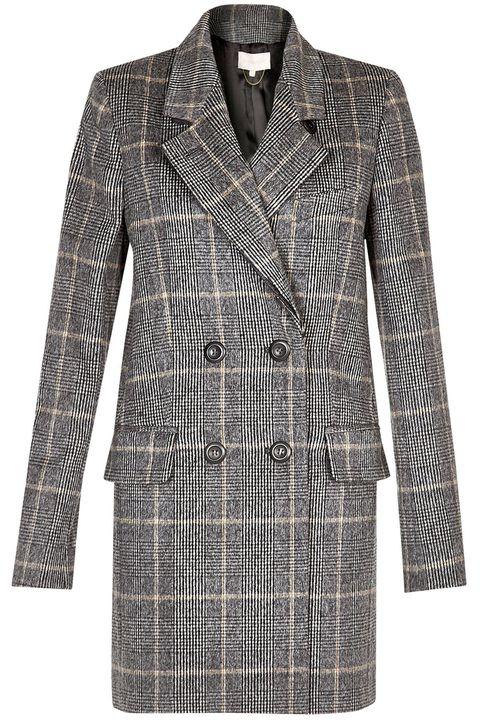 Clothing, Coat, Collar, Sleeve, Pattern, Textile, Outerwear, Style, Blazer, Fashion,