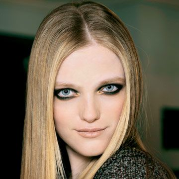 model with smoky eyes