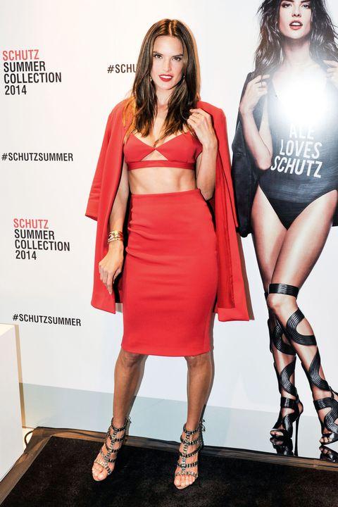 Clothing, Human, Leg, Human leg, Shoulder, Shoe, Dress, Joint, Red, Style,