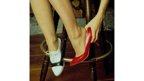 High heels, Human leg, Joint, Sandal, Toe, Basic pump, Foot, Carmine, Fashion, Tan,