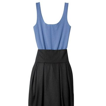 h&m top and skirt