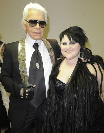 karl lagerfeld and beth ditto